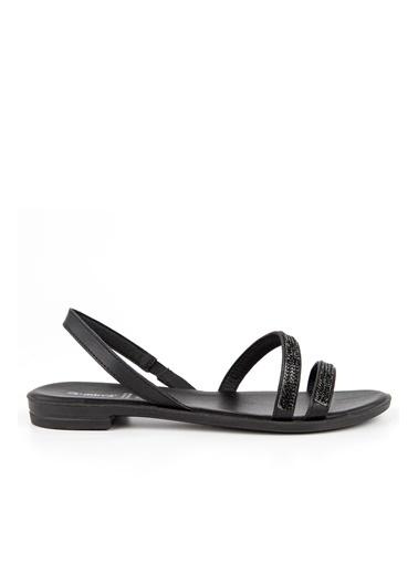Muya Quenn Anatomik Kadın Sandalet Siyah